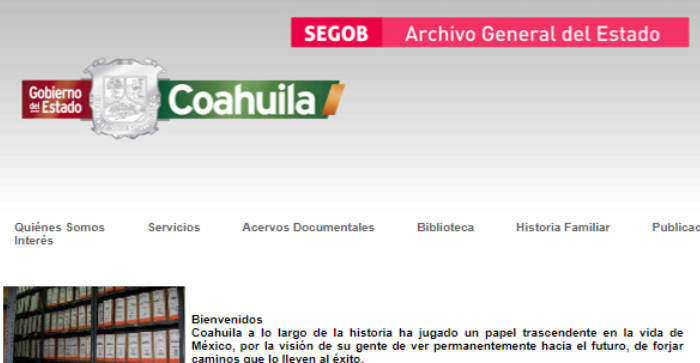 The General Archive of Coahuila, Mexico