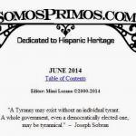 Somos Primos, June 2014, Letter from the Editor and Table of Contents