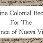 Online Colonial Records for The Province of Nueva Vizcaya