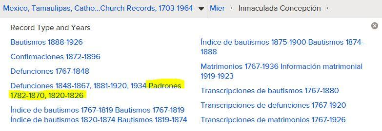 Mier Padrones