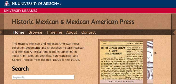 Historic Mexican and Mexican American Press