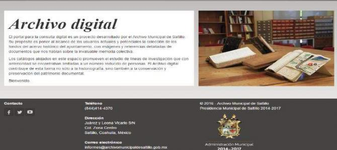 The Municipal Archive of Saltillo, Coahuila is Now Online